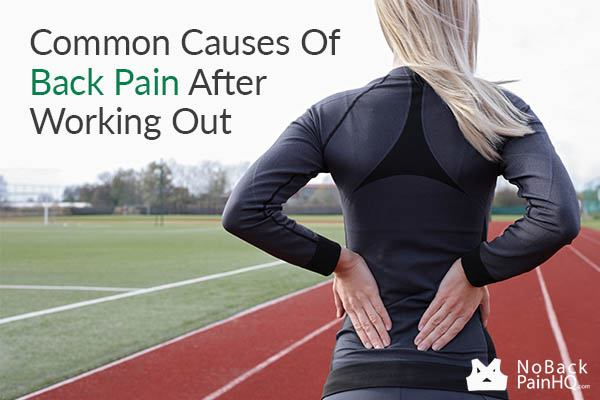 Common causes of back pain after working out